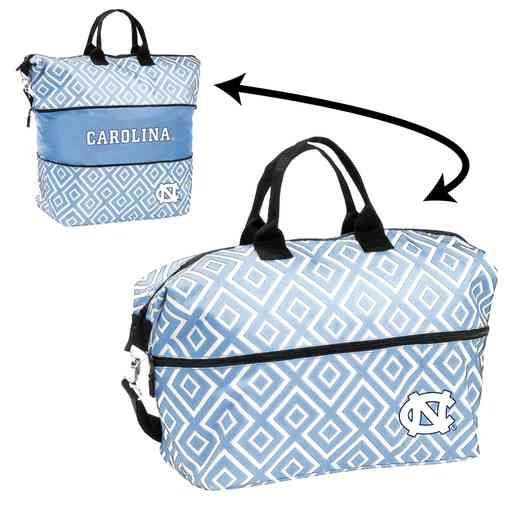 185-665QF: LB North Carolina Quatrefoil Expandable Tote