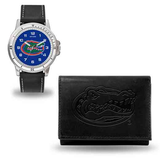 WTWAWA100101: Florida Gators Black Watch and Wallet Set