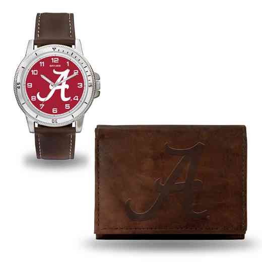 WTWAWB150102: Alabama Crimson Tide Brown Watch and Wallet