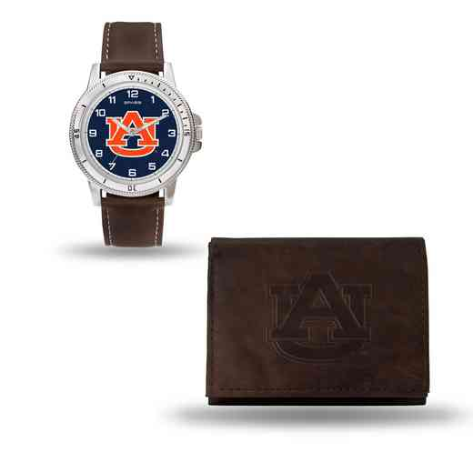 WTWAWB150201: Auburn Tigers Brown Watch and Wallet