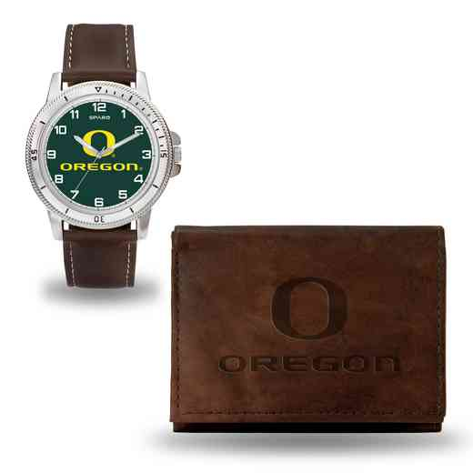 WTWAWB510102: Oregon Ducks Brown Watch and Wallet