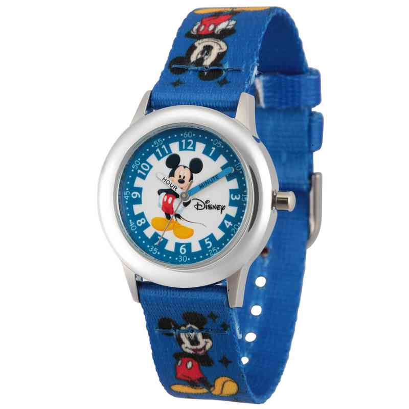 WDS000083: STNLSTL Disney Boys Thinking Mickey BluWatch Prnt Strap