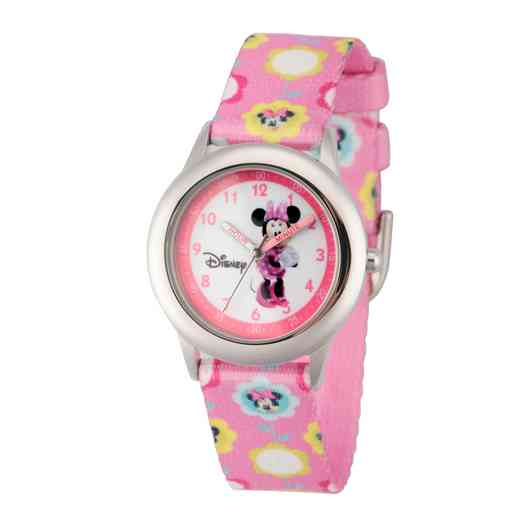 WDS000087: STNLSTL Disney Girls Love Minnie Pnk Watch Fabric Strap