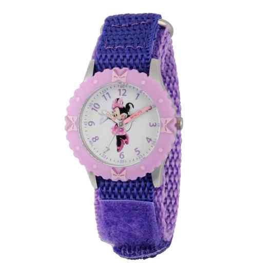 WDS000090: STNLSTL Disney Gir Dance Minnie Purp Watch Nylon Strap