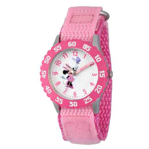 WDS000095: STNLSTL Disney Girls Butterfly Minnie Pnk Watch Ny Stap