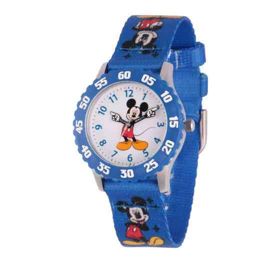 WDS000099: STNLSTL Dis Boys Pointing Mickey Red Watch PrntNy Strap