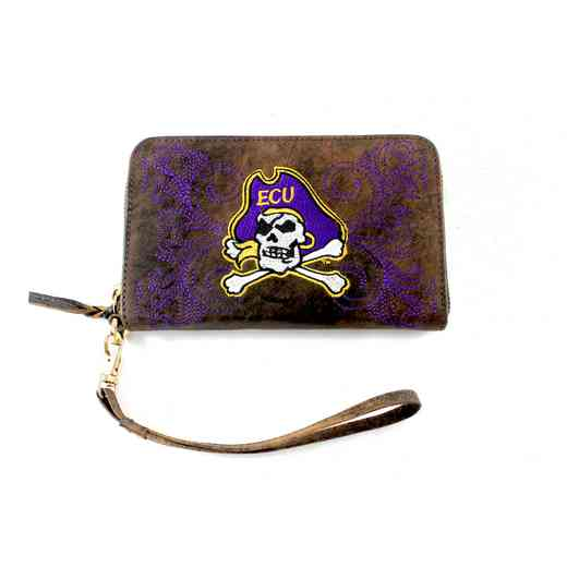 ECU-WR075-1: EAST CAROLINA GAMEDAY BOOTS WRISTLET