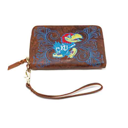 KS-WR017-1: U OF KANSAS (KU) GAMEDAY BOOTS WRISTLET