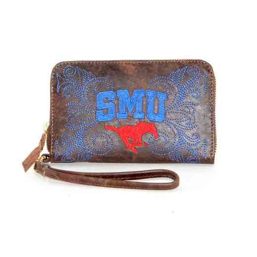 SMU-WR006-1: SOUTHERN METHODST GAMEDAY BOOTS WRISTLET