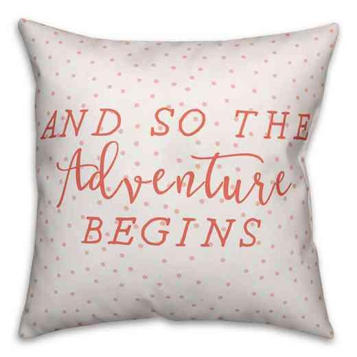 3963-I: 18X18 PillowAnd So The Adventure Biggins