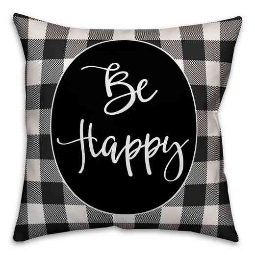 3963-J: 18X18 Pillow Be Happy