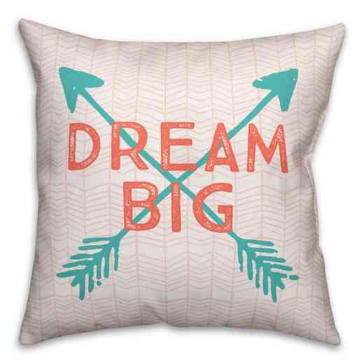 3963-S: 18X18 Pillow Dream Big