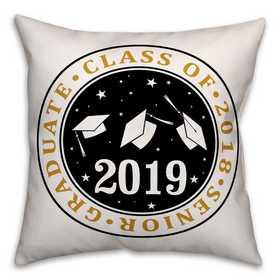 4627-X: 18x18 Pillow Class of - Caps