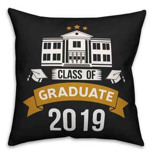 4677-Y: 18x18 Pillow 2019 Graduate