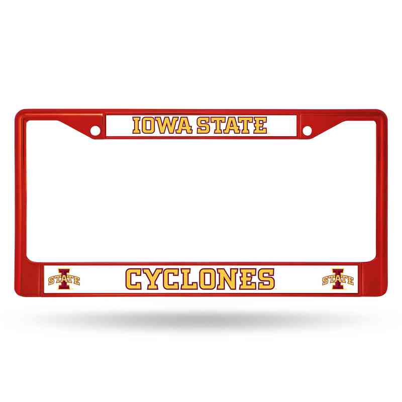 Iowa State Cyclones Red Chrome License Plate Frame