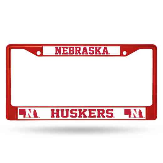 FCC410105RD: NCAA FCC Chrome Frame Colored Nebraska
