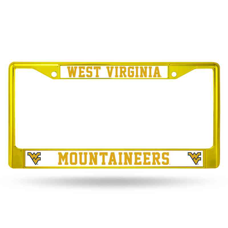 FCC280104YL: NCAA FCC Chrome Frame ColoredW.Virginia