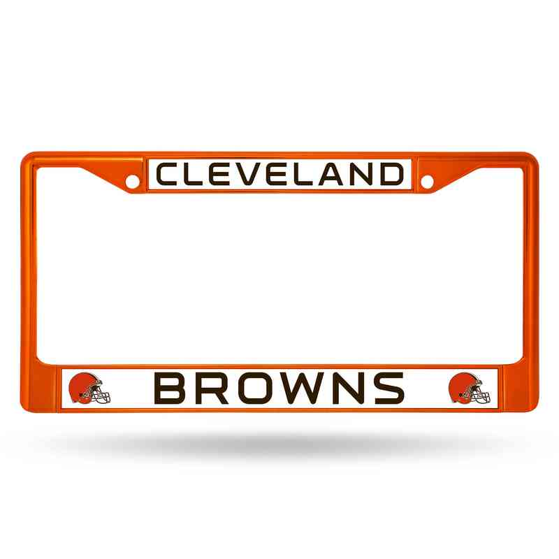 Cleveland Browns Orange Chrome License Plate Frame