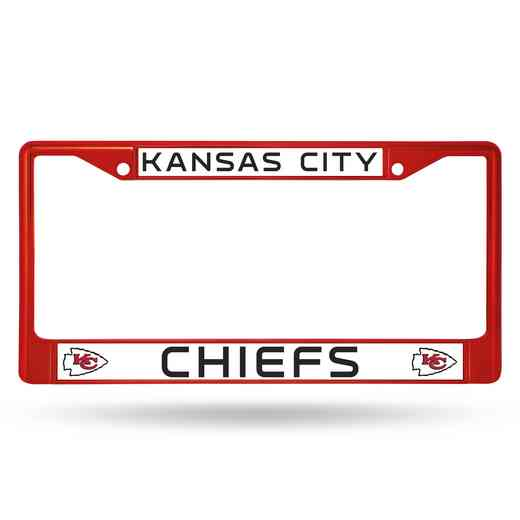 FCC2704RD: NFL FCC Chrome Frame (Colored) Chiefs