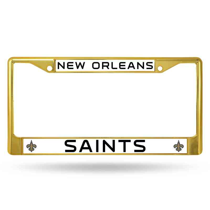 New Orleans Saints Gold Chrome License Plate Frame