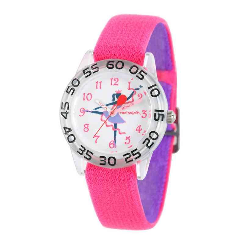 W002301: Red Balloon Girls Dancer Nylon Pink/Purple Watch