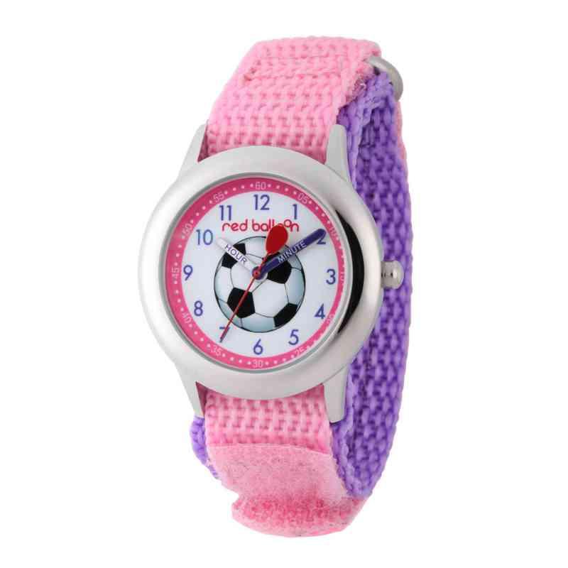WRB000039: SSTN Red Balloon Girls Soccer Nylon Pink/Purple Watch