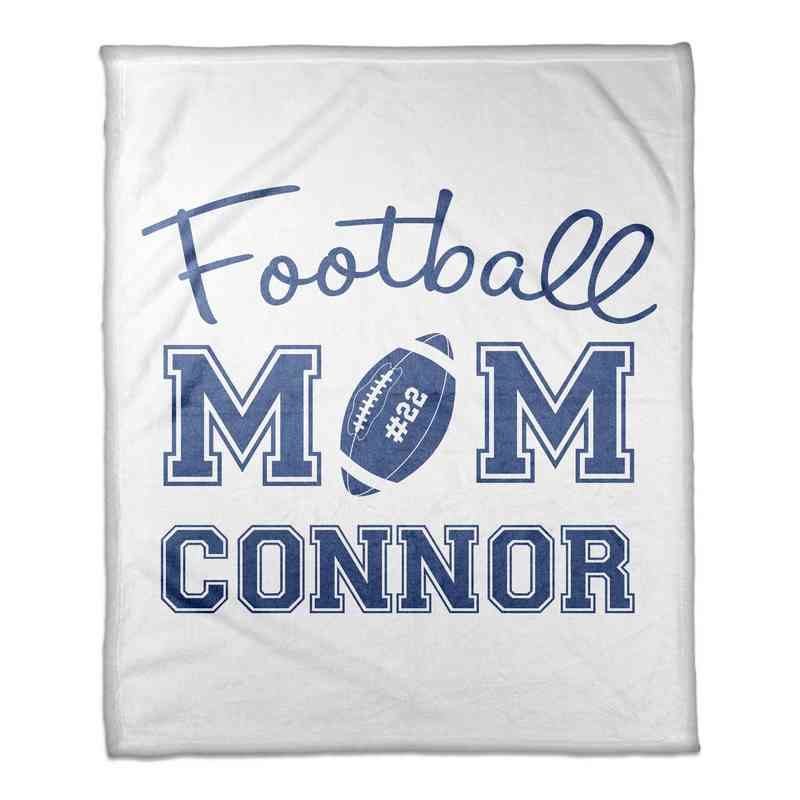 4627-E: 50x60 Throw Personalized - Football Mom