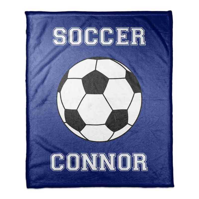 4627-G: 50x60 Throw Personalized - Soccer