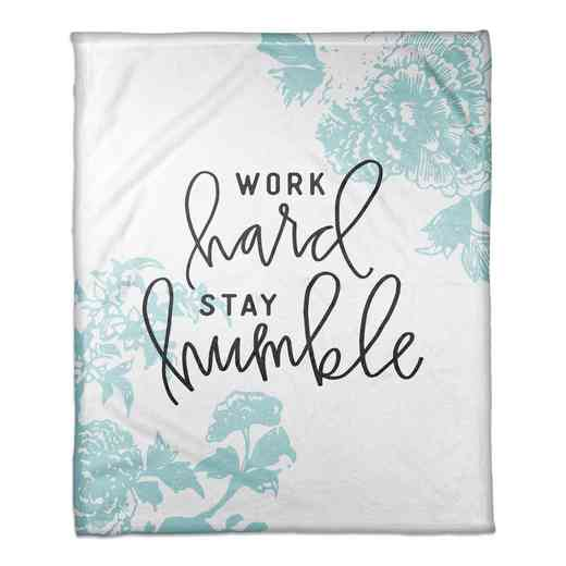 4627-T: 50X60 Throw Work Hard Stay Humble