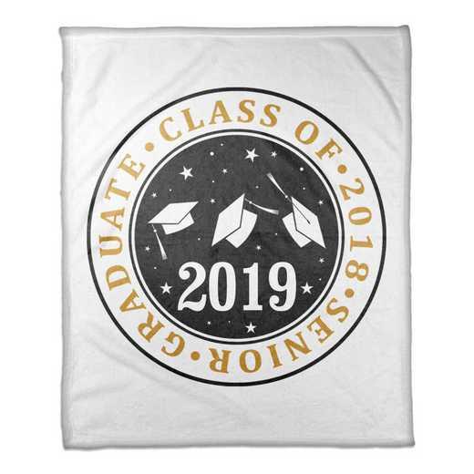 4627-M: 50x60 Throw Class of 2019 - Caps