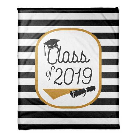 4627-AY: 50x60 Throw Class of 2019 - Stripes