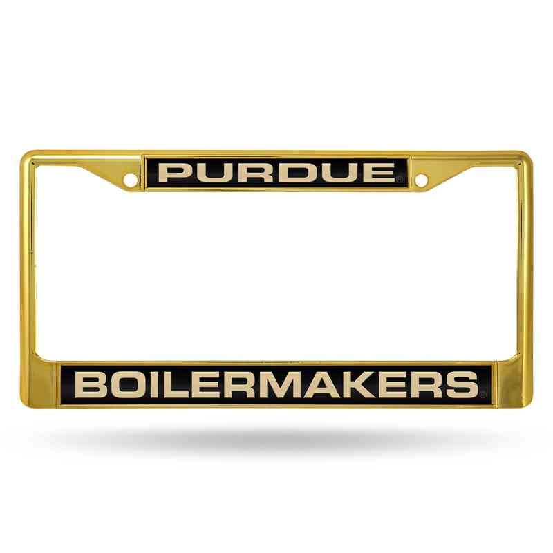 Purdue Boilermakers Laser-Cut Gold Chrome License Plate Frame