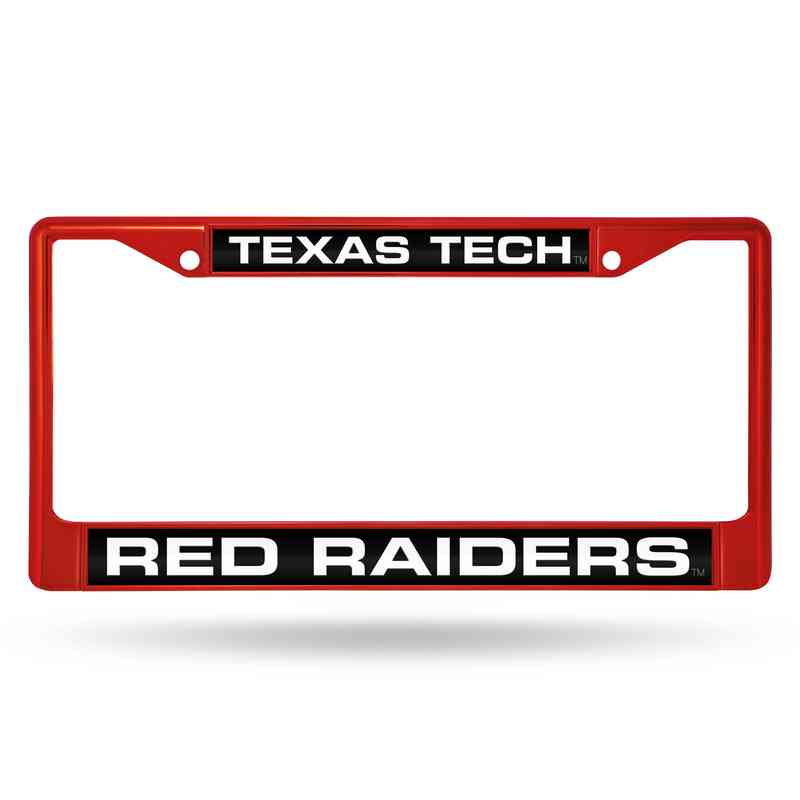 Texas Tech Red Raiders Laser-Cut Red Chrome License Plate Frame