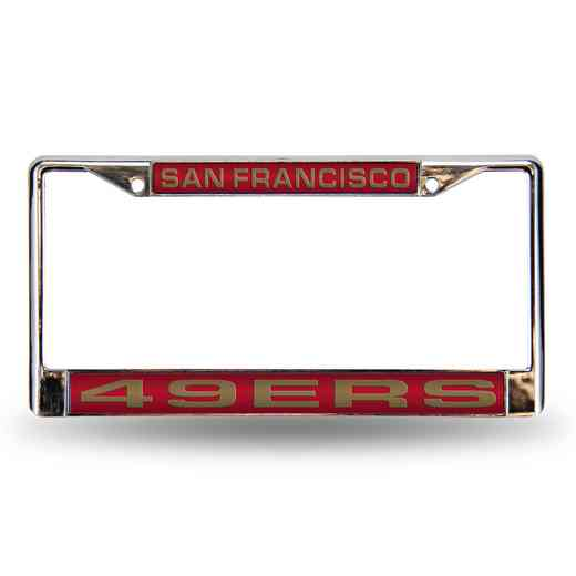 FCL1902: NFL FCL Chrome Lsr License Frame 49ers