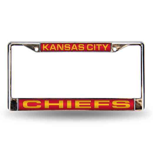 FCL2702: NFL FCL Chrome Lsr License Frame Chiefs