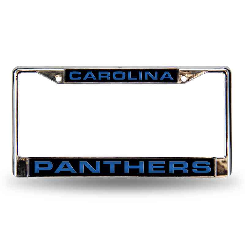 FCL0802: NFL FCL Chrome Lsr License Frame Panthers