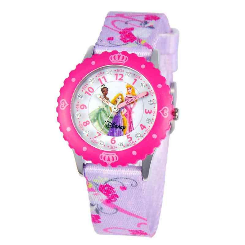 W000386: STNLS STL Girls Disney Prn Pink Watch Printed Strap