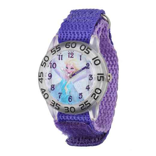 W001791: Plastic Girls Disney Froz Elsa Watch Purp Nylon Strap