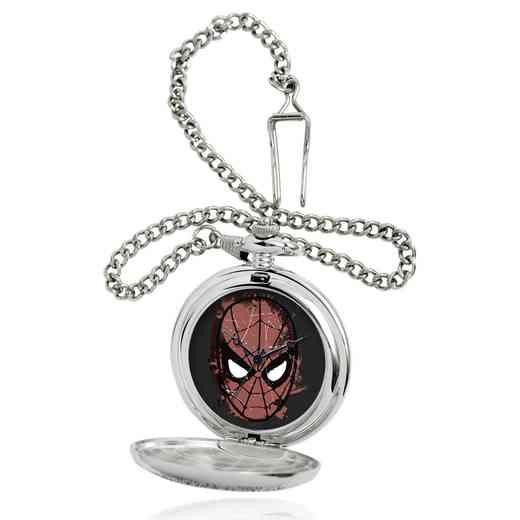 W001746: Silver Alloy Spider-Man Dark Mens Pocket Watch