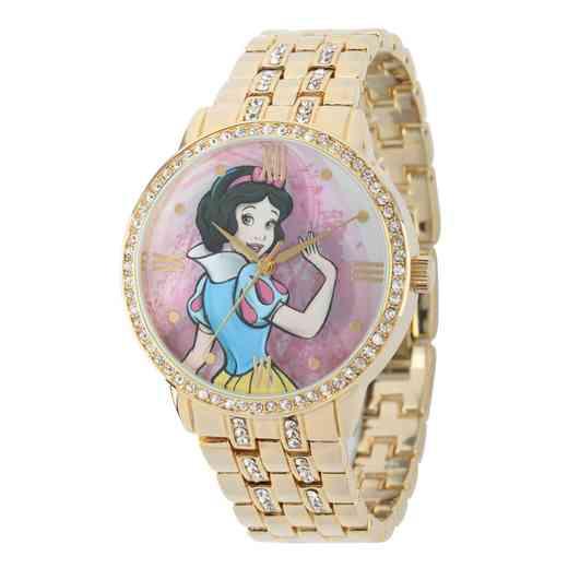 W001826: Gold Alloy Snow White Womens Watch W/Glitz