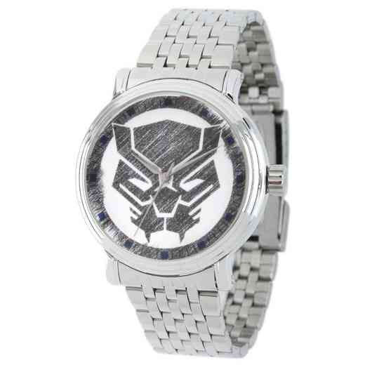 WMA000199: Sil Alloy Marvel Blk Panther Mens Watch Stnls Stl Brac