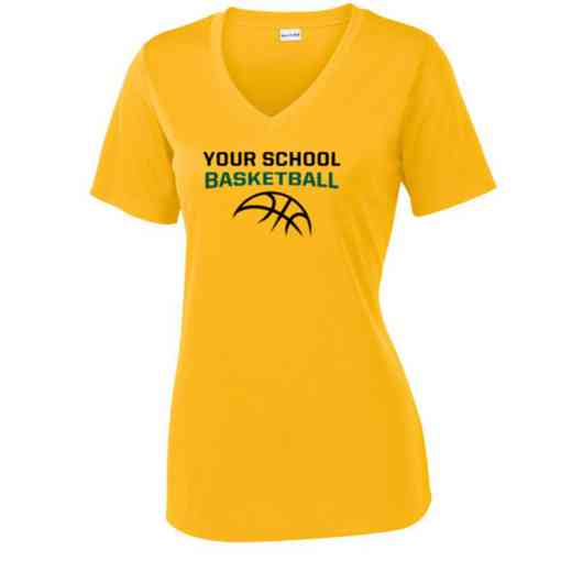 Basketball Sport Tek Womens V-Neck Competitor T-shirt