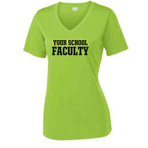 Faculty Sport Tek Womens V-Neck Competitor T-shirt