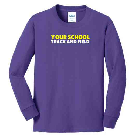 Track and Field Youth Classic Fit Long Sleeve T-shirt