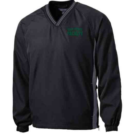 Faculty Embroidered V-Neck Raglan Windshirt
