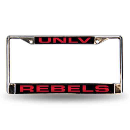 UNLV Rebels Laser-Cut Chrome License Plate Frame