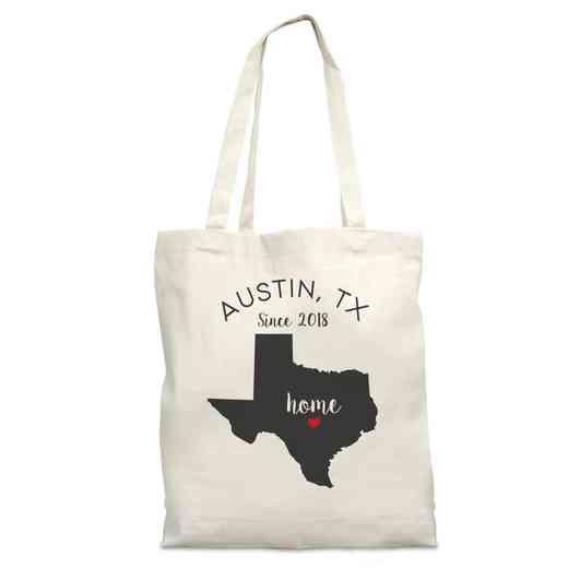 8110622TX: Nat Canvas Tote Bag-TX
