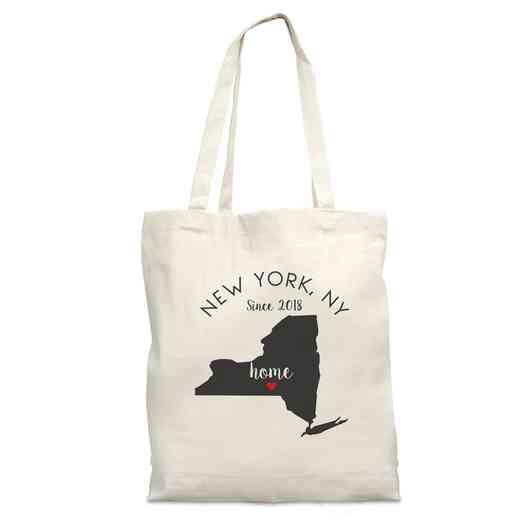 8110622NY: Nat Canvas Tote Bag-NY
