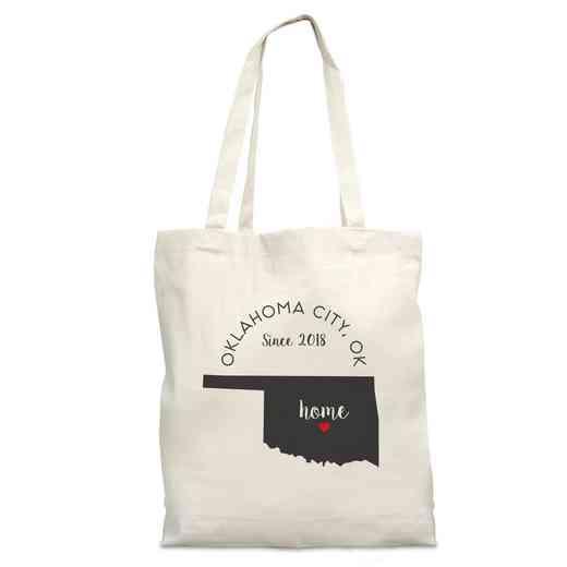 8110622OK: Nat Canvas Tote Bag-OK