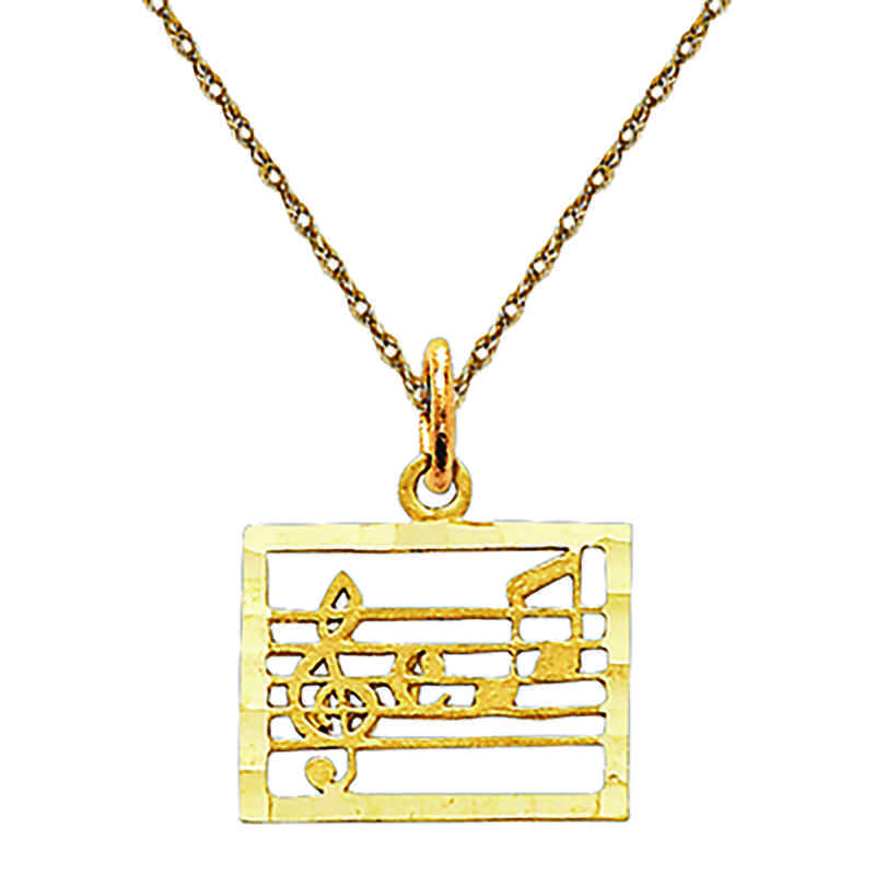 C416/5RY-18: 14k YG Musical Chart Charm